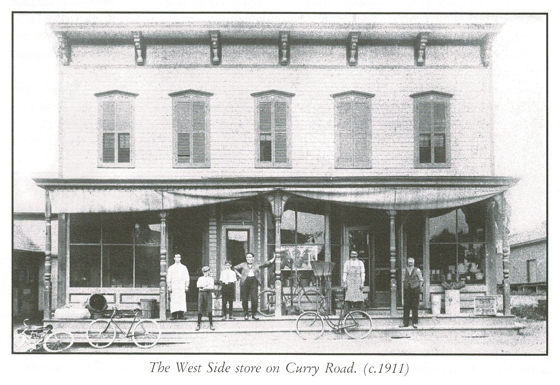 West side store, now Leah's Baker, Curry Rd