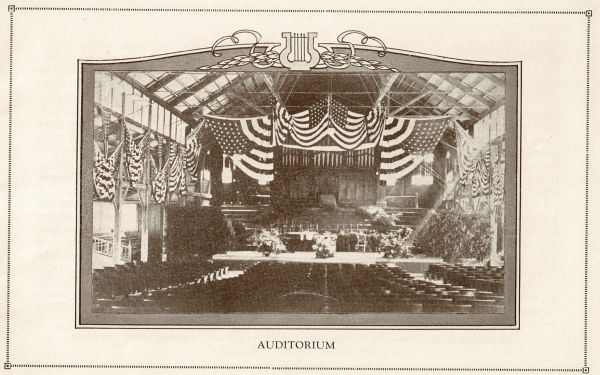 Auditorium from Round Lake Season 1923 3  2